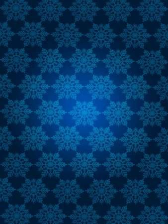 patterned wallpaper: Blue themed snow flakes patterned wallpaper