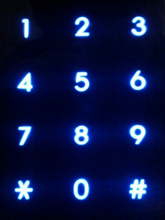 numpad: Numpad of a electronic security lock