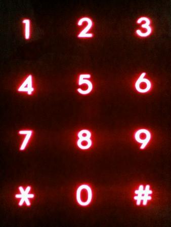 numpad: Red color security numpad