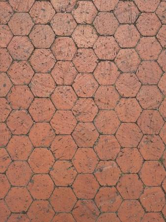 tile: Texture of a hexagonal tiled floor Stock Photo