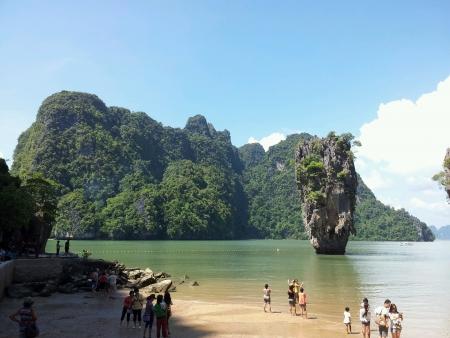 phang nga: James bond island at phang nga bay Thailand