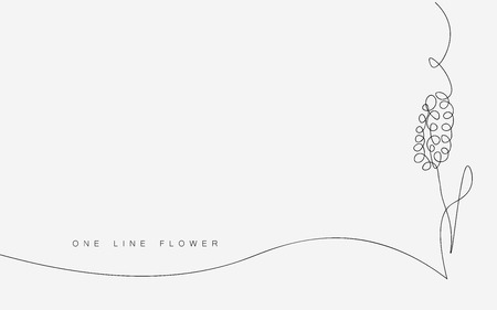 Flower outline drawing, vector illustration Stock Illustratie