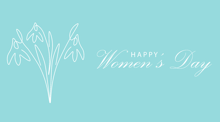 Happy womens day card, vector illustration