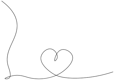 Heart background one line drawing, vector illustration Stock Vector - 119405711