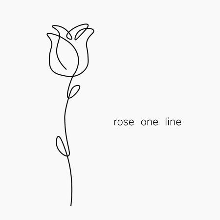 Les roses fleurissent un tirage au sort, illustration vectorielle