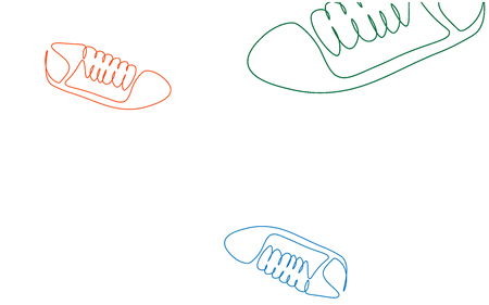 Sports background with sneakers shoes vector illustration