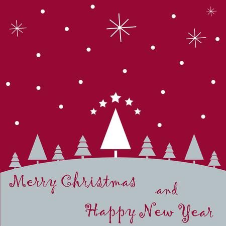 Kerst achtergrond, vectorillustratie