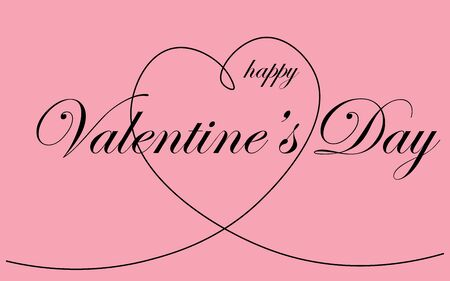 Valentine's day background or card vector illustration Stock Vector - 124600081