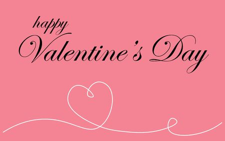 Valentines day background or card vector illustration