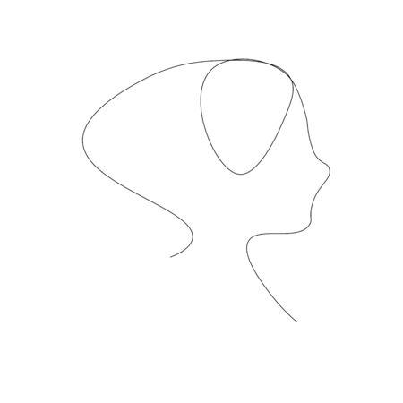 Hair style woman silhouette vector illustration Standard-Bild - 138030466