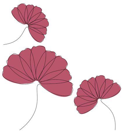 Chamomile background flowers vector illustration