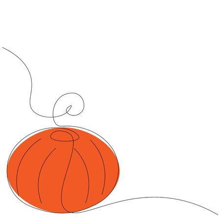 Pumpkin on white background vector illustration