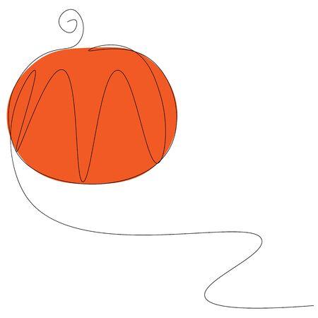 Pumpkin background vector illustration
