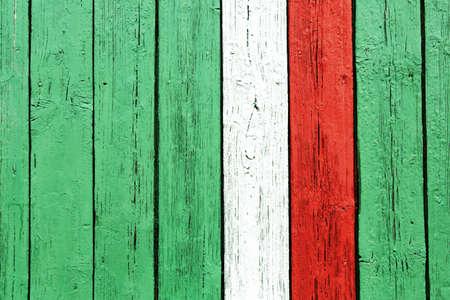 deteriorate: DENMARK flag on wood door deco wallpaper aged