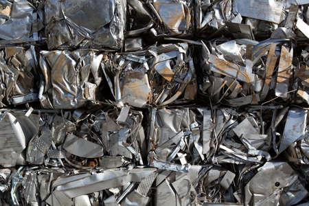Compressed packages blocks scrap of metal strips Standard-Bild