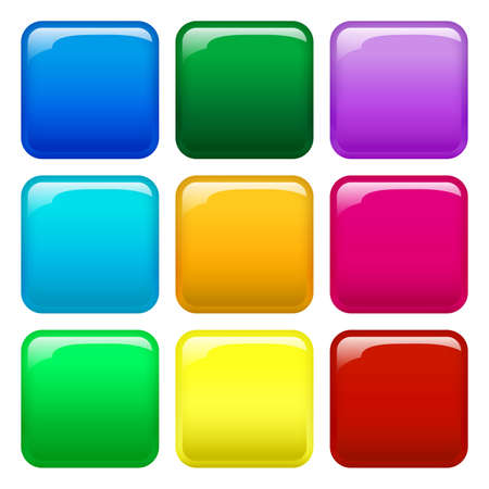 9 colorful button icons
