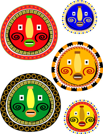 mask designs Vector