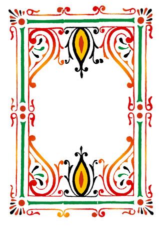 rangoli: rangoli border Illustration