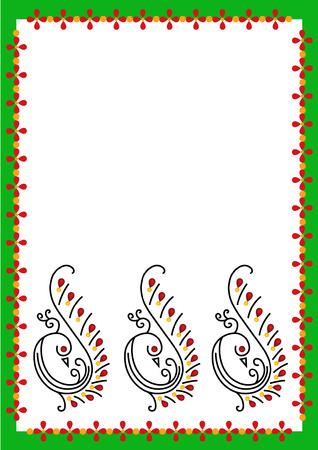 peacoke border Vector