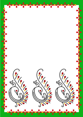 peacoke border Vector