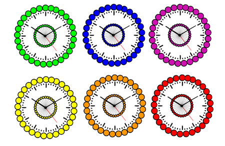 earnings: colorful vector clock