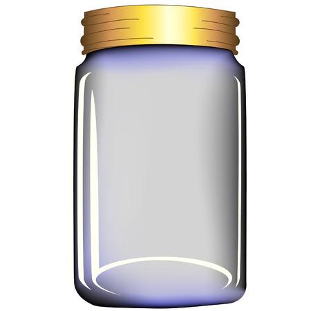pokrywka: szklanych słoików Ilustracja