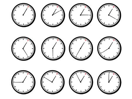 circa: clock shows hour 1