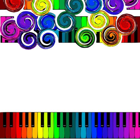 rainbow piano Vector