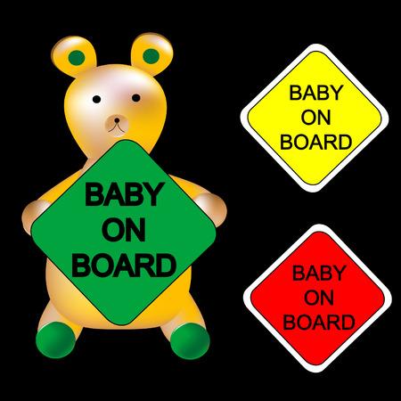 violation: baby on board Illustration