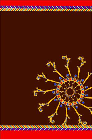 batik bandhej pattern Vector