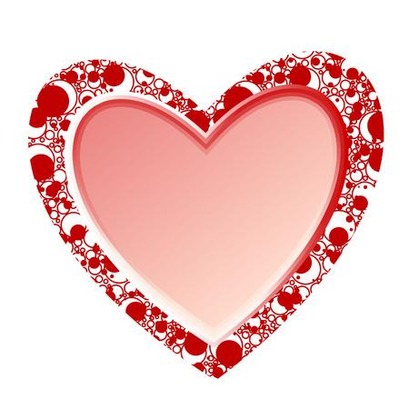 folkart: valentine heart vector