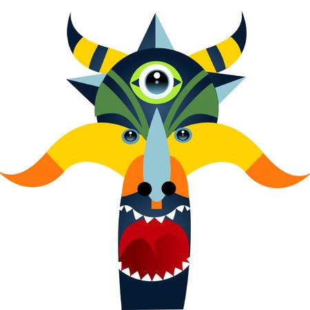 alien face illustration Vector