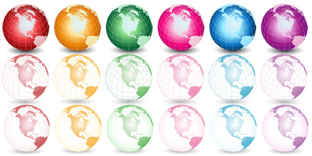 different color earth illustration Stock Vector - 4920514