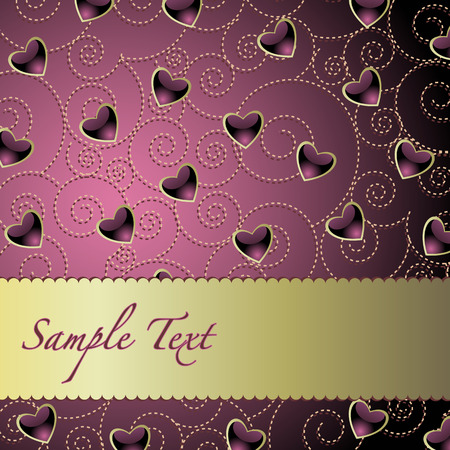greeting card background with hearts Vector