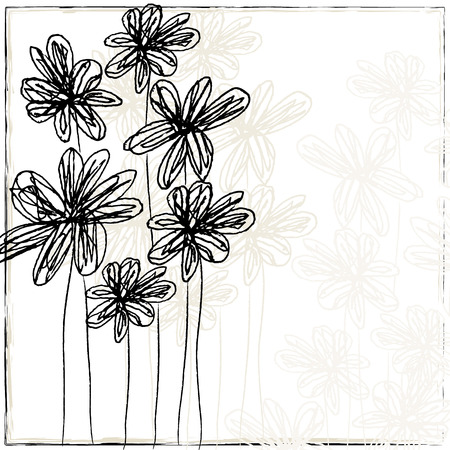 handdrawn flowers background Stock Photo - 6762813