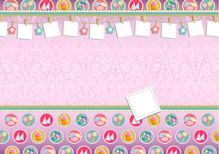 birthday invitation can be used for other invitation layout Vector