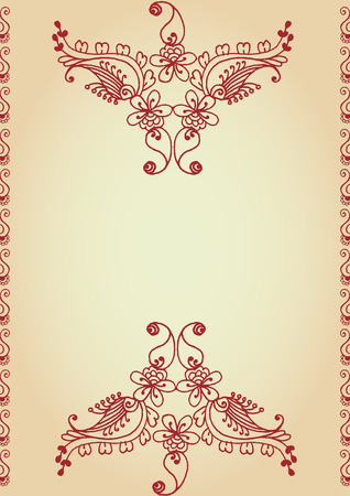 hand drawn vintage background Stock Vector - 7851086