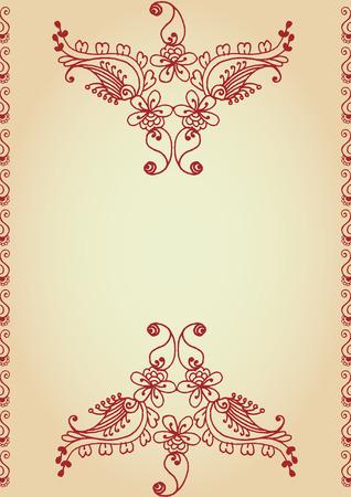 disegni cachemire: sfondo vintage disegnato a mano