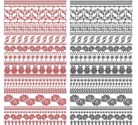 handdrawn vintagehenna designs Vector