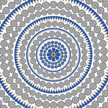 henna design: dise�o floral de henna abstracta