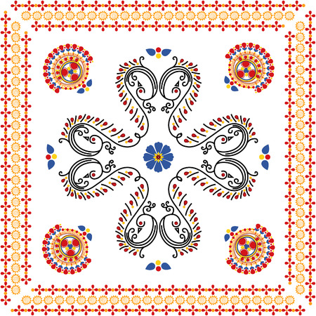rangoli design can be use as pattern Vector