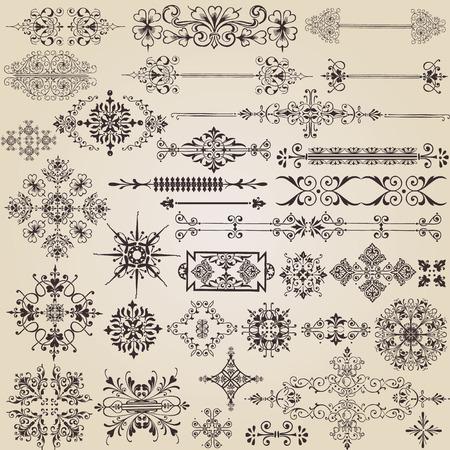 vintage design elements for decoration Vector