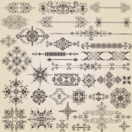 vintage design elements for decoration Stock Vector - 8397628