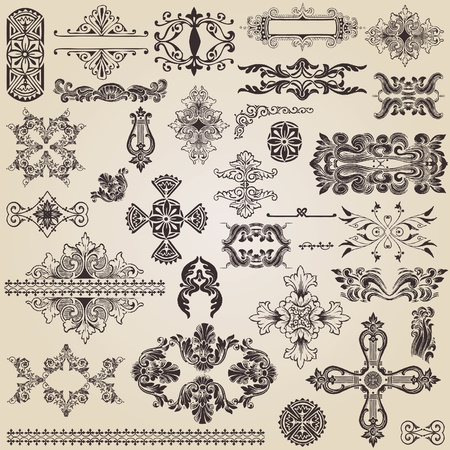 vintage design elements for decoration Stock Vector - 9609473