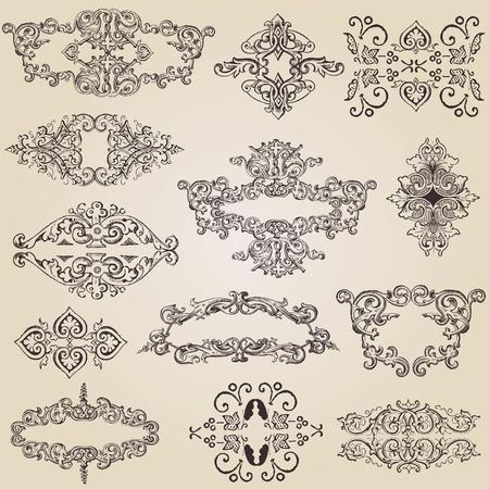 antique: vintage design elements for decoration