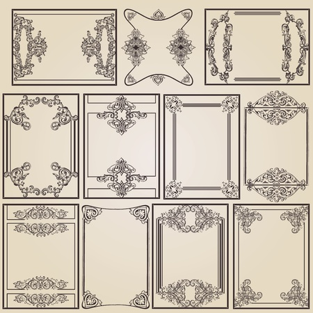schoolbook: vintage frame designs for decoration