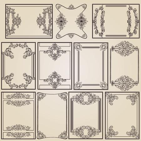 carved: vintage frame designs for decoration