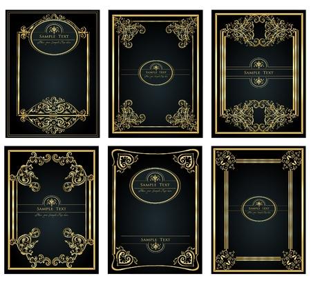 vintage golden frame for design Stock Vector - 10043176