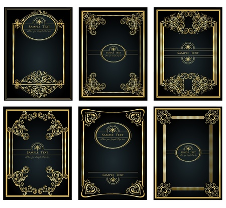 Vintage golden Frame für design