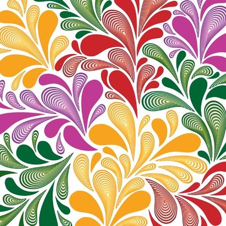 motif cachemire: patron de paisley transparente Illustration